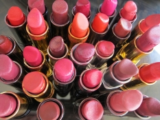 Whole group of Red Lipsticks