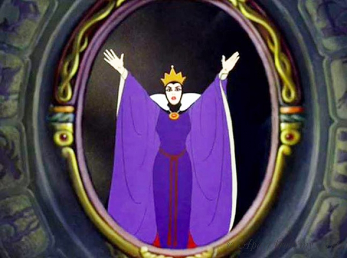 The evil queen at her mirror