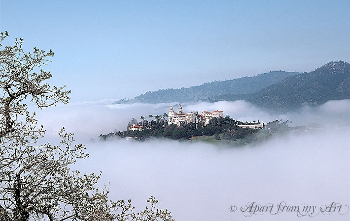 Hearst Castle in the Fog
